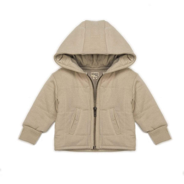 KidWild Jacket 2-3y Organic Quilted Jacket - Oat