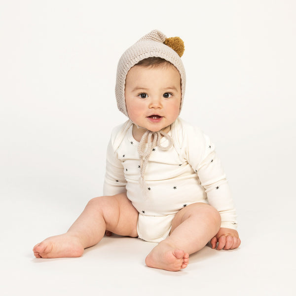 KidWild Tops + Bodysuits 0-3m Organic Short Sleeve Bodysuit - Star