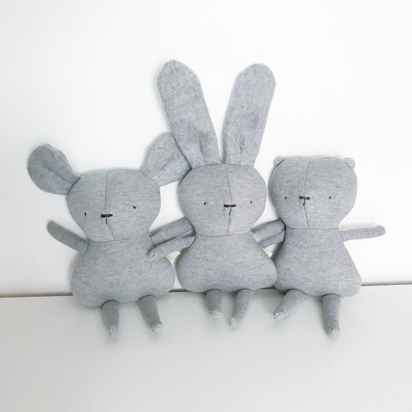 Kiou Kiout Toys Mouse Grey Plush Toy