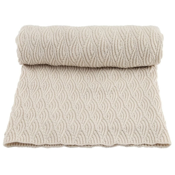 Konges Sloejd Blanket One Size Blanket Pointelle - Off White