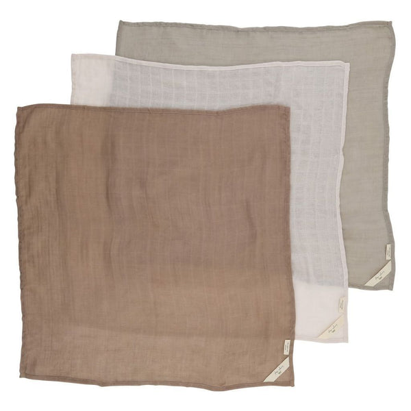 Konges Sloejd Swaddle 3 Pack Muslin - Rose Dust