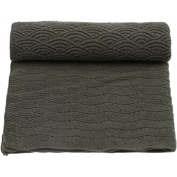 Konges Sloejd Swaddle Blanket Pointelle - Ivy Green