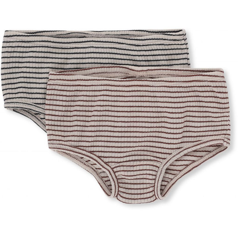 Konges Sloejd Underwear Saya 2 Pack Underpants - Bourdeaux/Navy