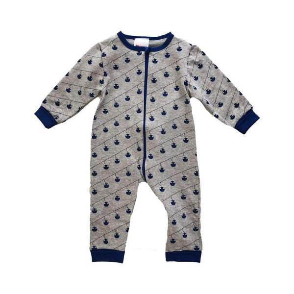 L'Asticot Romper Organic Cotton Romper Blue Cable Cars (Rescues)