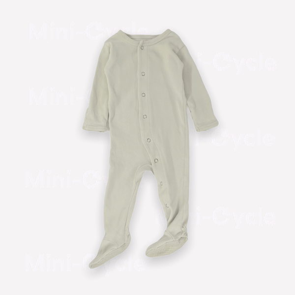 L'ovedbaby Footed 3-6m / Preloved Re-Cycle Organic Footed Jumpsuit - Stone