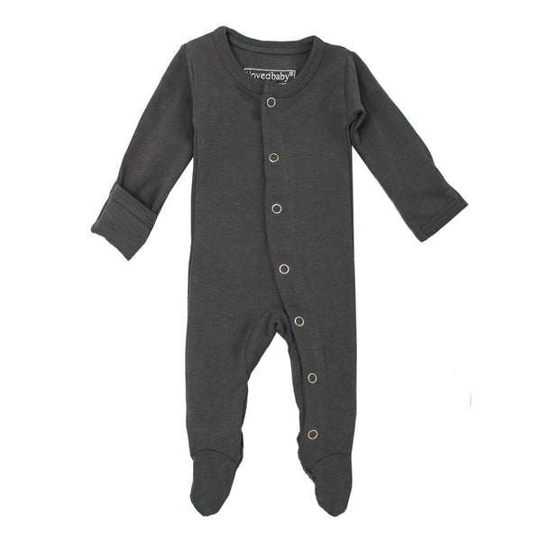 L'ovedbaby Romper Organic Footed Jumpsuit - Gray