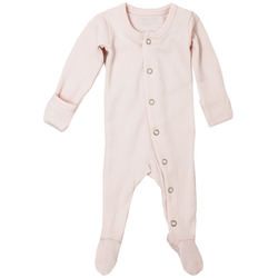 L'ovedbaby Romper Organic Gl'oved-Sleeve Overall - Blush