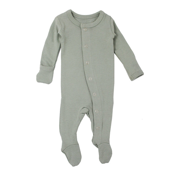 L'ovedbaby Romper Organic Gl'oved-Sleeve Overall - Seafoam