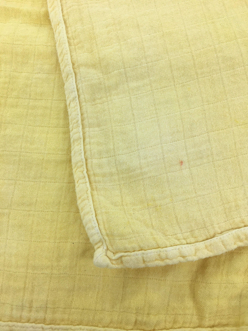 La Petite Leonne Swaddle Blanket OS / Preloved Re-Cycle Solid Yellow Swaddle Blanket