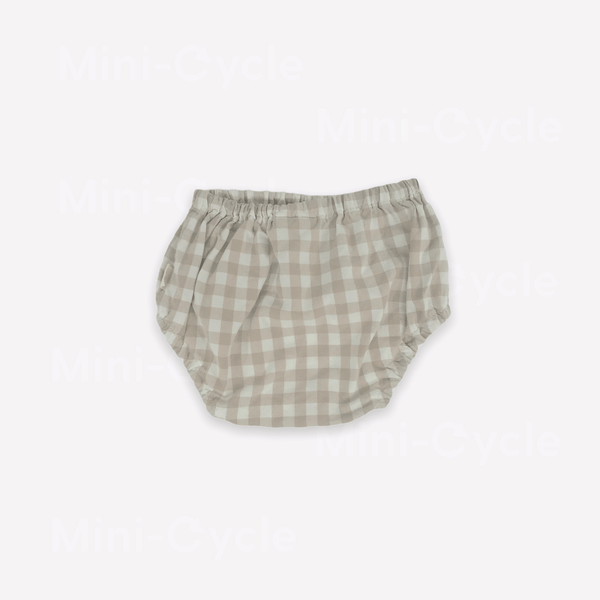 Les Petites Natures Bloomers 12-18m / Like New Re-Cycle Checkered Beige Bloomers