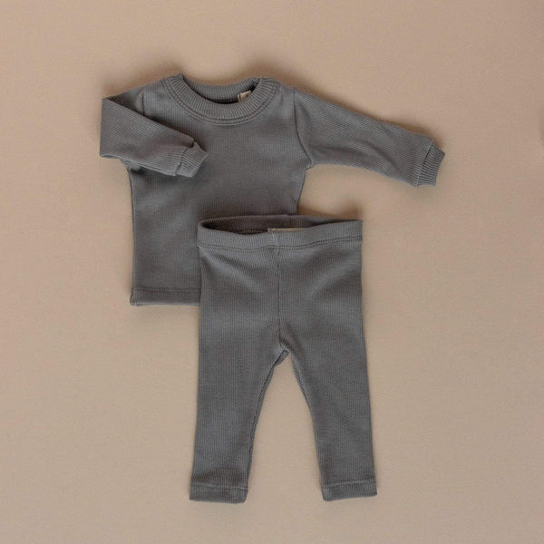 Les Petites Natures Leggings Ribbed Leggings - Dover Grey