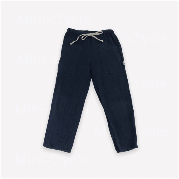 Les Petites Natures Pants 4-5y / Preloved Re-Cycle Solid Blue Pants