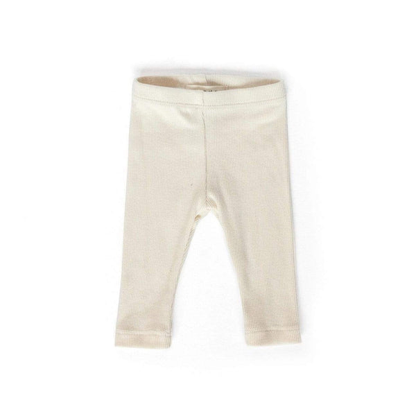 Les Petites Natures T-Shirt Ribbed Leggings - Cream