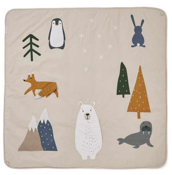 Liewood Blanket O/S Glenn Activity Blanket - Arctic Mix