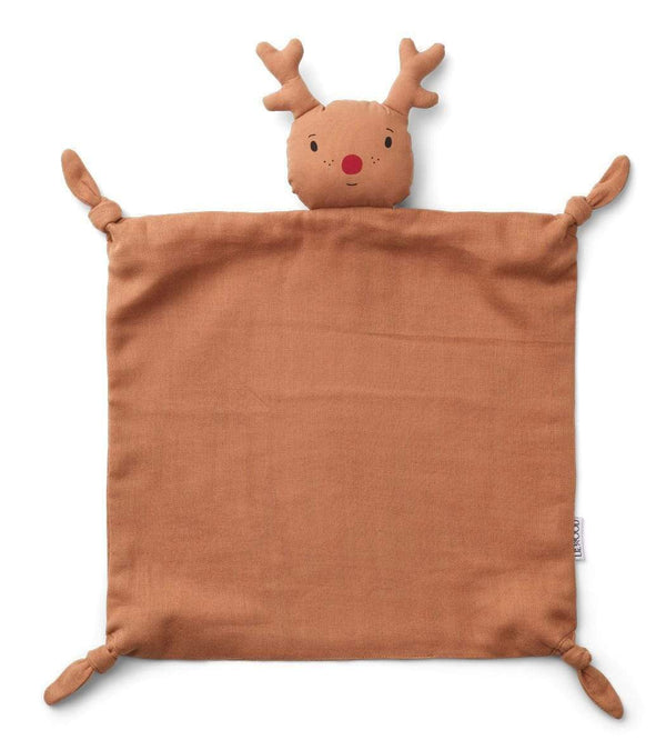 Liewood Blankets Agnete Cuddle Cloth - Reindeer Tuscany Rose