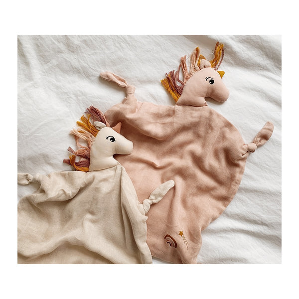Liewood Blankets Agnete Cuddle Cloth - Unicorn Sorbet Rose