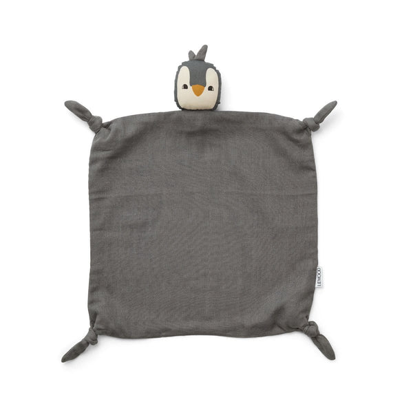 Liewood Blankets One Size Agnete Cuddle Cloth - Penguin Stone Grey