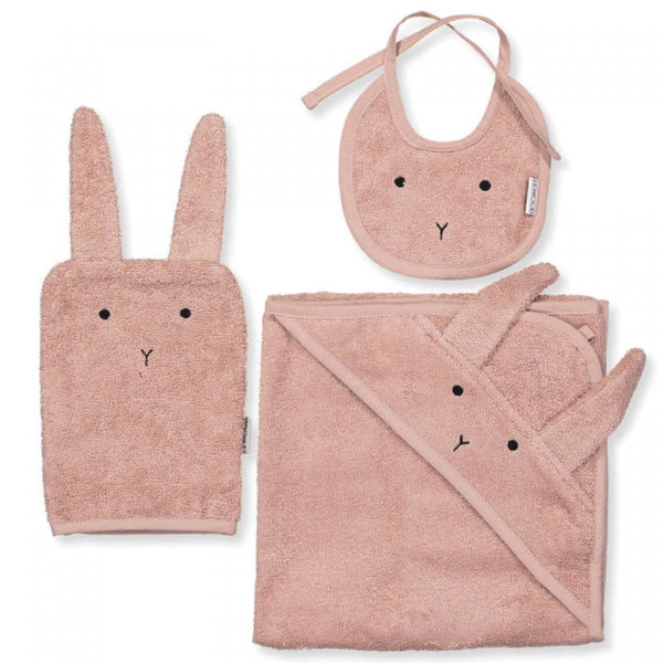 Liewood Towel Adele Terry Baby Package - Rabbit Rose