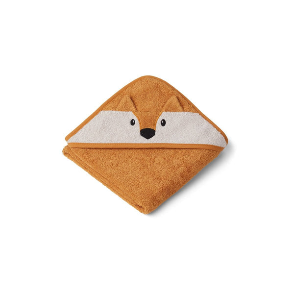 Liewood Towel Albert Hooded Baby Towel - Fox Mustard
