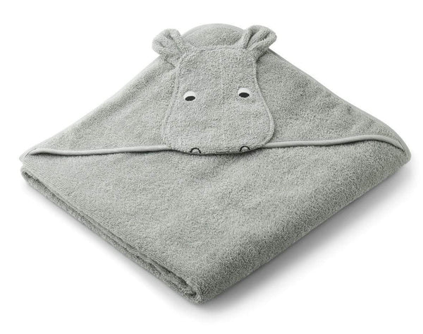 Liewood Towel Augusta Hooded Towel - Hippo Dove Blue