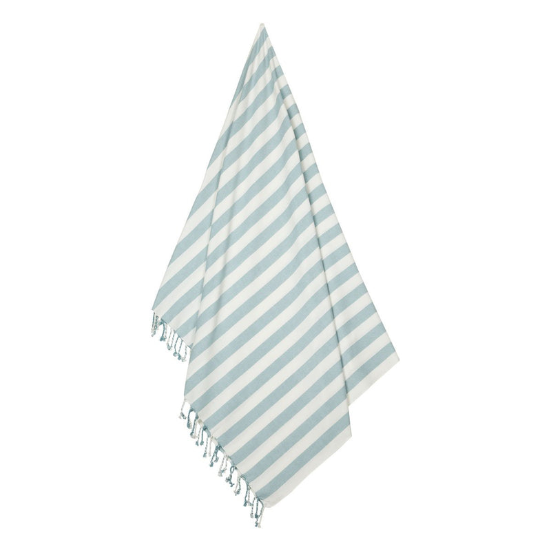 Liewood Towel Mona Beach Towel - Sea Blue/Creme de la Creme