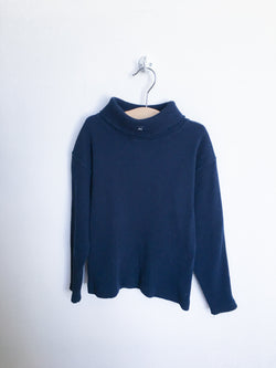 Lili Gaufrette Sweaters 8y / Gently Used Re-Cycle Blue Turtleneck Sweater