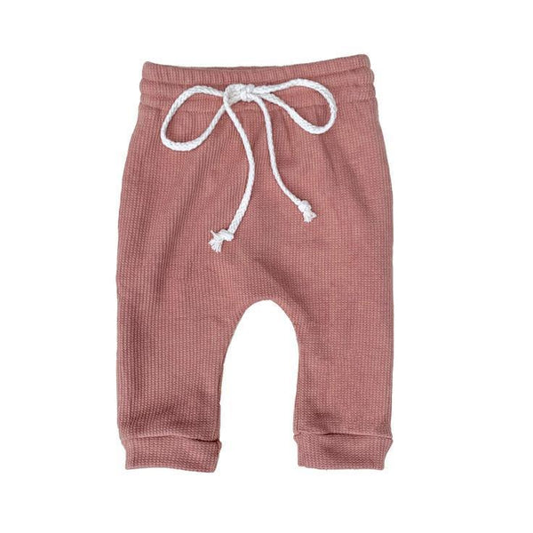Little Maple Pants Waffle Pant - Dusty Rose