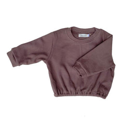 Little Maple Sweatshirt Waffle Pullover - Cinnamon