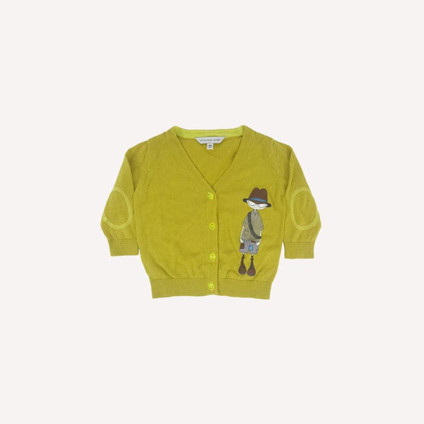 Little Marc Jacobs Cardigan 6m / Like New Re-Cycle Graphic Yellow Cardigan