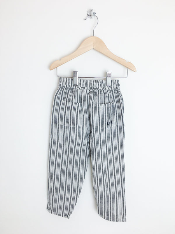 Louis Louise Bottoms 3T / New with Tag Re-Cycle Black and White Striped Pants