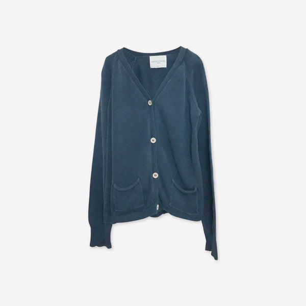 Louis Louise Cardigan 12y / Well Loved Re-Cycle Solid Blue Cardigan
