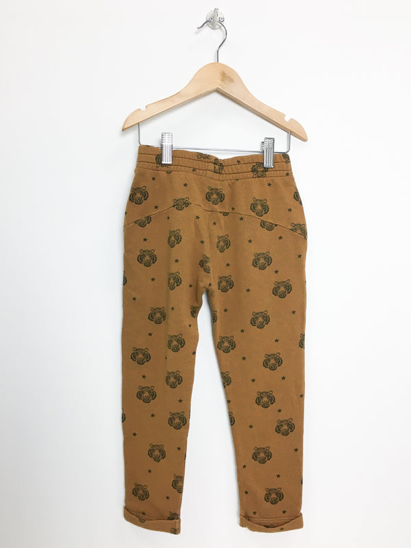 Louis Louise Pants 5-6y / Like New Re-Cycle Tiger Sweatpants- Caramel