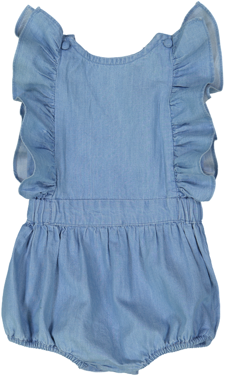 Louis Louise Rompers + Overalls 6m Marie Chambray Overall