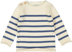 Louis Louise Sweaters 6m Axel Sweater - Cream & Blue