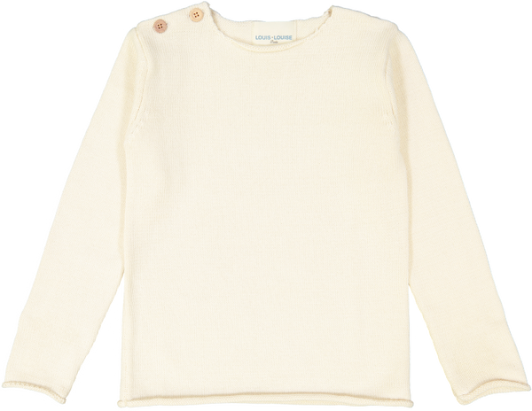 Louis Louise Sweaters 8y Axel Sweater - Cream