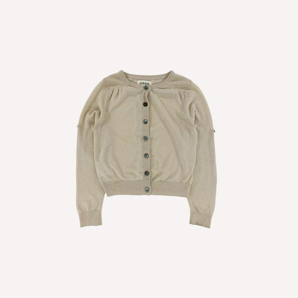 maan Cardigan 4y / Like New Re-Cycle Solid Beige Cardigan Sweater