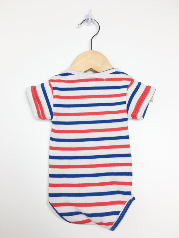 Maison Labiche Bodysuit 0-3m / Like New Re-Cycle Red White and Blue Bodysuit