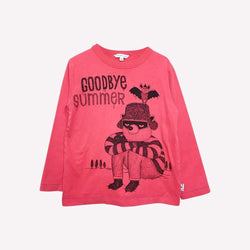 Marc Jacobs T-Shirt 5T / Like New Re-Cycle Red Goodbye Summer Tee