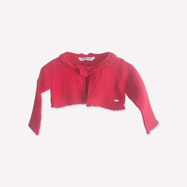 Mayoral Cardigan 6m / Like New Re-Cycle Red Bolero Cardigan