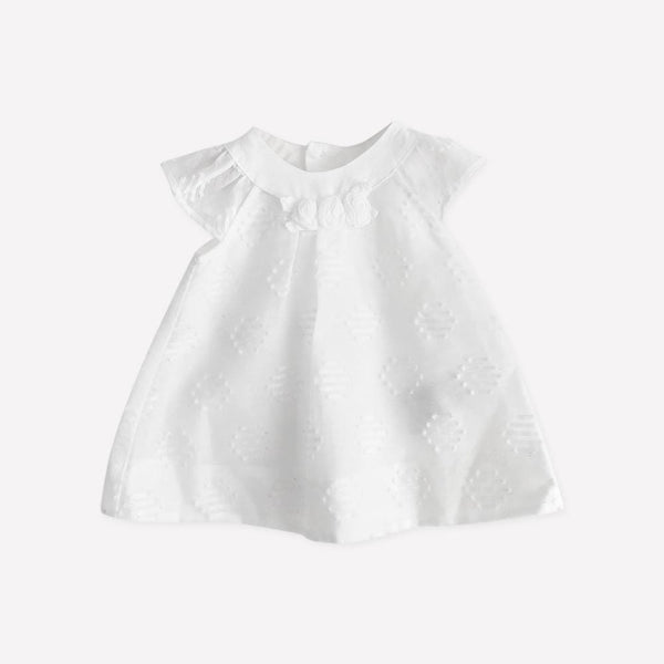 Mayoral Dress 1-2m / Like New Re-Cycle White Embroidered Dress