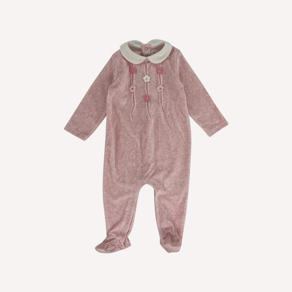 Mayoral Footed 6-9m / New Re-Cycle Solid Pink Footed Pyjama