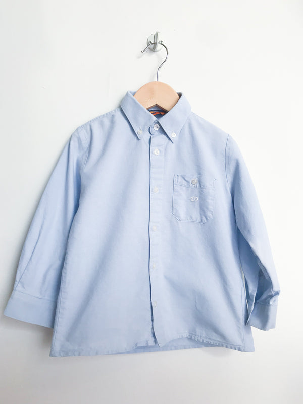 Mayoral Shirts 4y / Gently Used Re-Cycle Blue Button-Down Collared Shirt