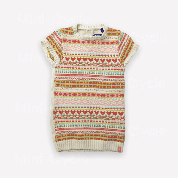 Mexx Tunic 18-24m / Preloved Re-Cycle Patterned Multi Colored Knit Tunic