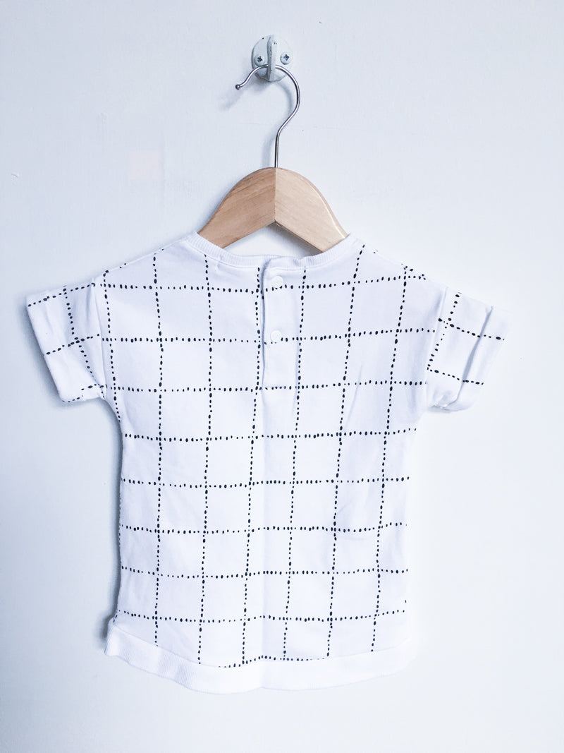 Miles Baby Dresses + Skirts 6m / Gently Used Re-Cycle White Windowpane Tunic Dress