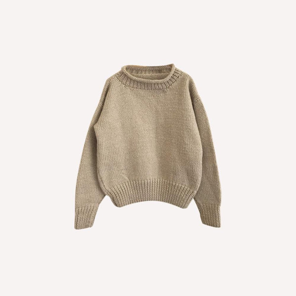 Mini-Cycle Sweater 10y / Like New Re-Cycle Solid Beige Wool Sweater
