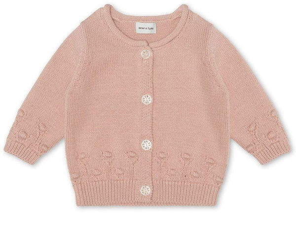 Miniature Cardigan Alona Cardigan - Rose Dust