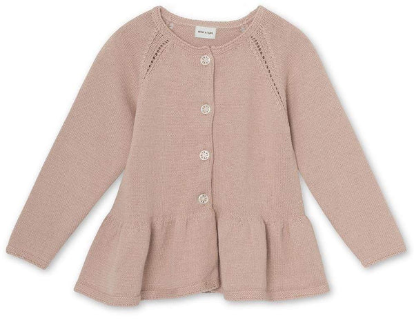 Miniature Cardigan Aloutte Cardigan - Rose Dust