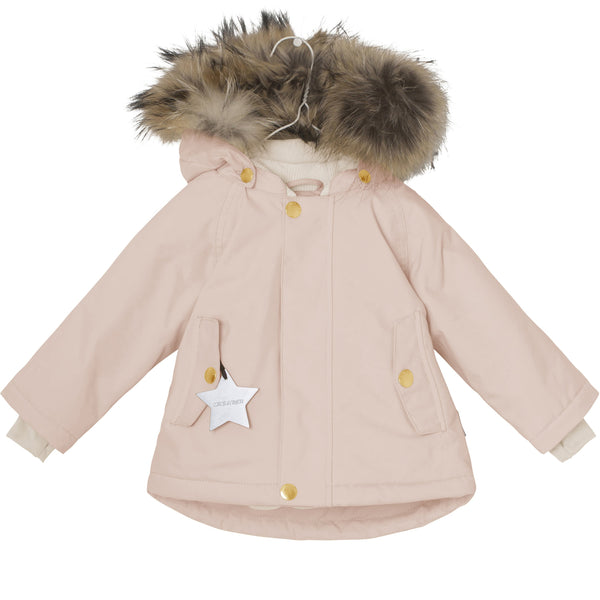Miniature Outerwear 12m Wally Fur Winter Jacket - Rose Smoke