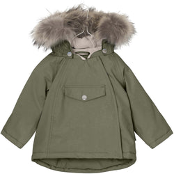 Miniature Outerwear 3y Wang Fur Winter Jacket - Clover Green