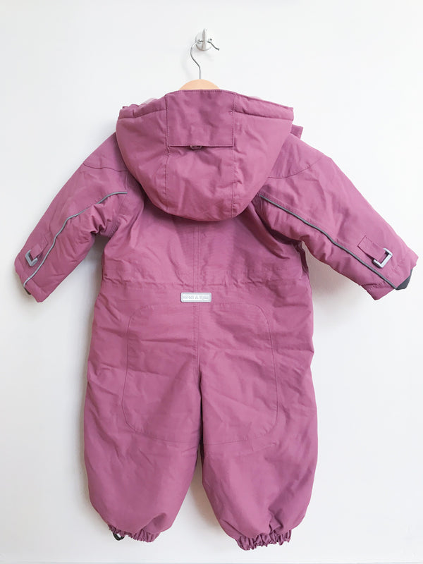 Miniature Outerwear 9m / Gently Used Re-Cycle Wisti Snowsuit Dusty Rose